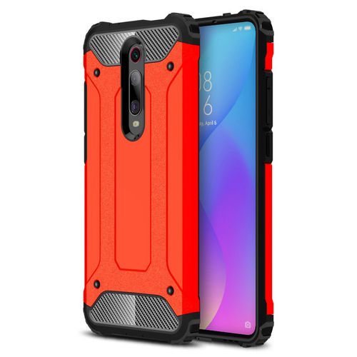 Military Defender Shockproof Case for Xiaomi Mi 9T / Redmi K20 Pro - Red